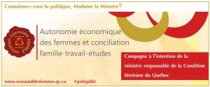 Vignette semaine 3: L'autonomie économique des femmes et la conciliation Famille-travail-études